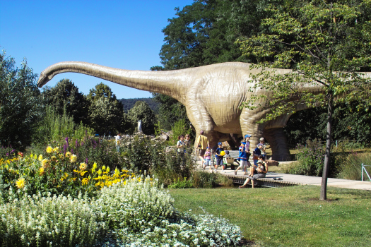 Dinosaur exhibit at the Gartenschau (Garden Fair)