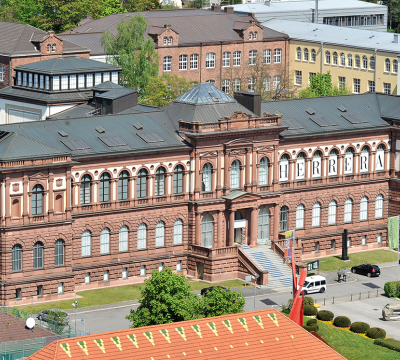 Aerial photo of the Palatinate Gallery