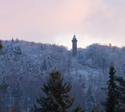 Humberg Tower during winter times