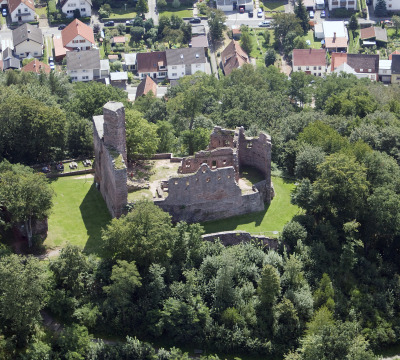 Aerial photo of the Hohenecken Castle