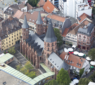Aerial shot of the Collegiate Church