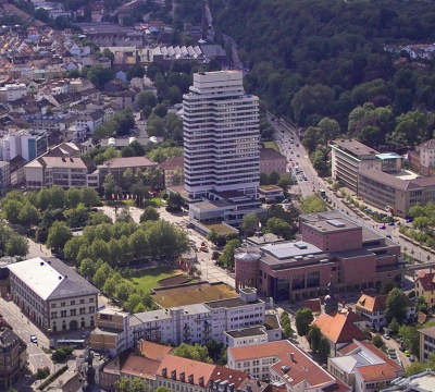 Aerial photo of the City Hall
