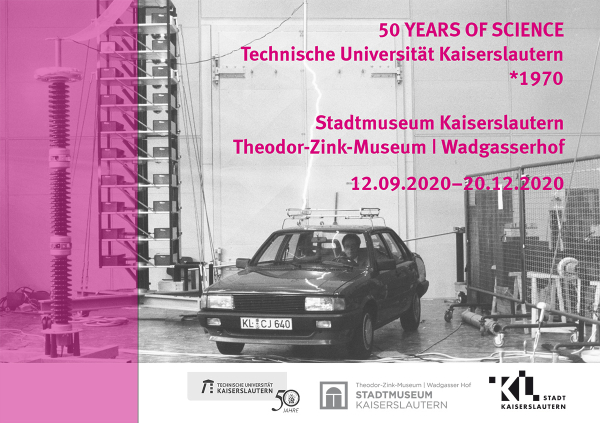Ausstellungsplakat 50 YEARS OF SCIENCE Technische Universität Kaiserslautern *1970