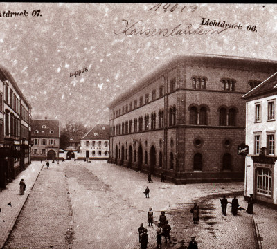 Historical shot of the Fruchthalle