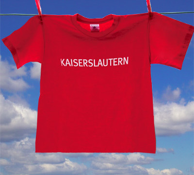 red T-Shirt for kids with the writing 'Kaiserslautern'